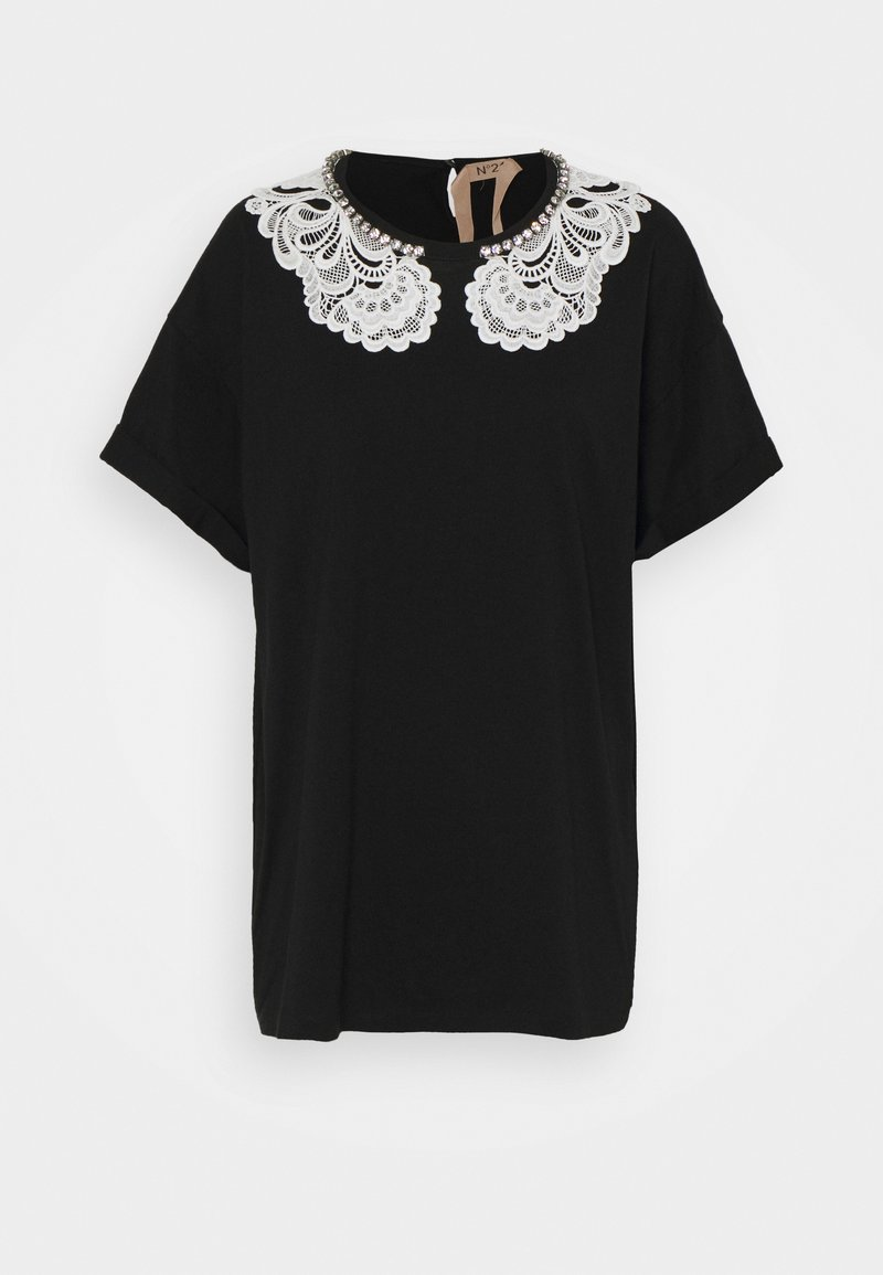 N°21 - TEE - Print T-shirt - black