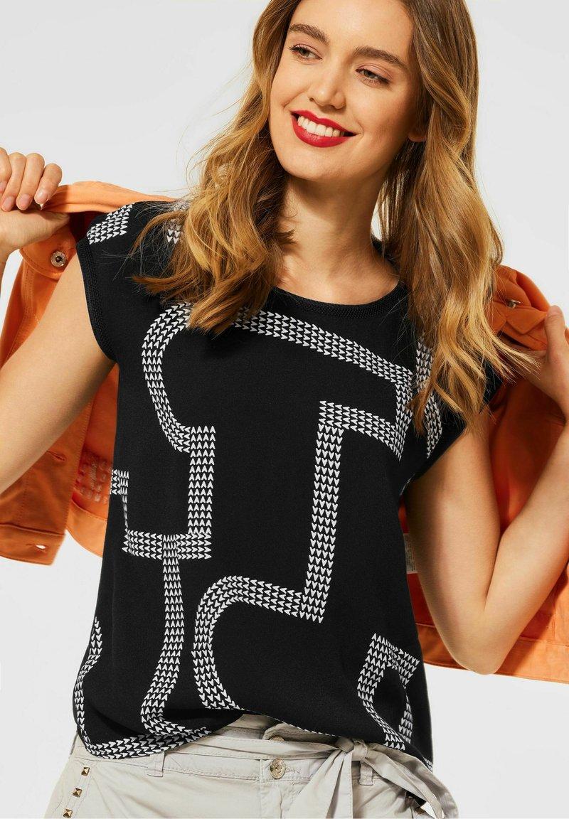 Street One - Print T-shirt - schwarz