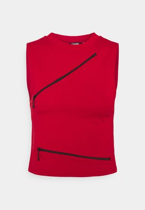 ZIP DETAIL TEE - Top - red