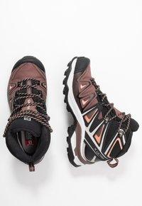 Salomon - X ULTRA 3 MID GTX  - Hiking shoes - peppercorn/black/coral almond - 1