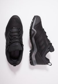 adidas Performance - TERREX BRUSHWOOD LEATHER HIKING SHOES - Hiking shoes - core black/grey five - 1