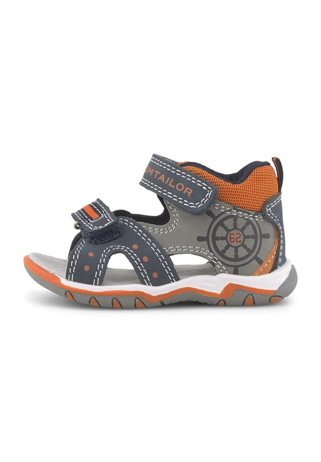 Trekkingsandale - navy-grey-neon orange