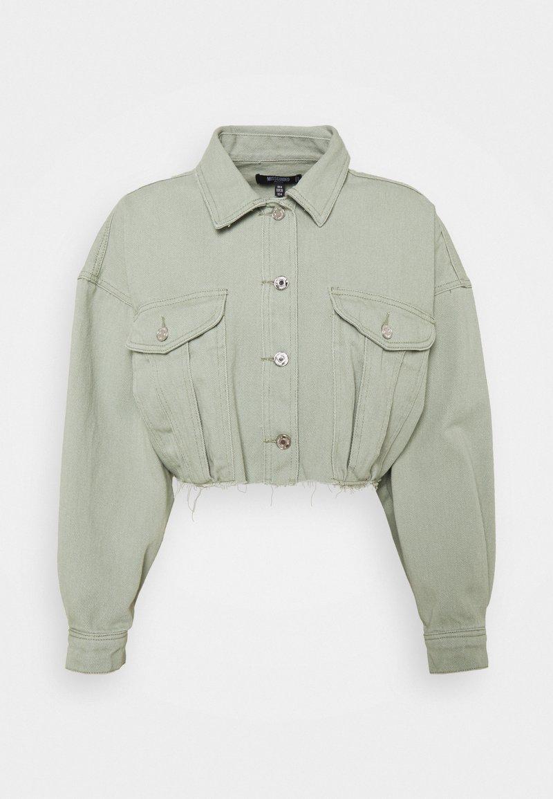 Missguided Petite - Denim jacket - sage