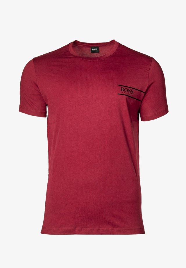 T-shirt med print - dunkelrot