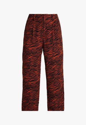 Trousers - brown/black