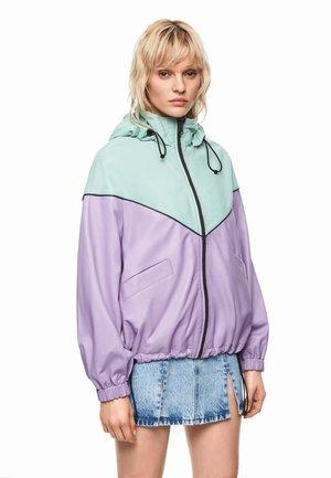 DUA LIPA X PEPE JEANS - Leather jacket - light violet