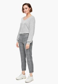 Q/S designed by - Trousers - grey check - 1