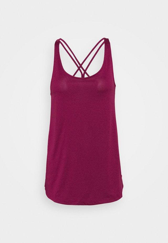 TUNIC TANK - T-shirt de sport - berry