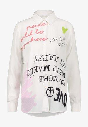 Button-down blouse - clear white