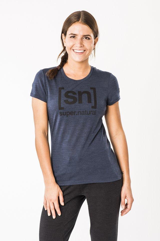 W ESSENTIAL  - Print T-shirt - dark blue