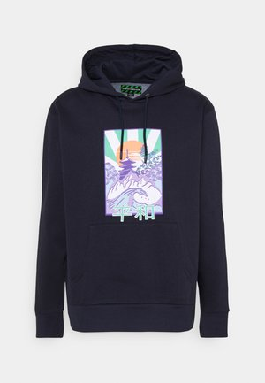 FRONT GRAPHIC PRINTED HOODY UNISEX - Mikina skapucí - navy