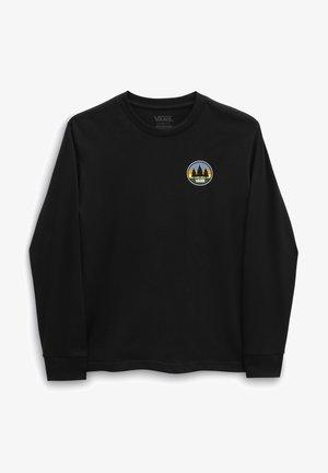 PLAIN VIEW LS - T-shirt con stampa - black