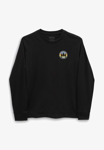 PLAIN VIEW LS - Print T-shirt - black