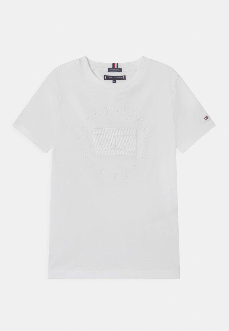 Tommy Hilfiger - HERITAGE LOGO - Camiseta estampada - white