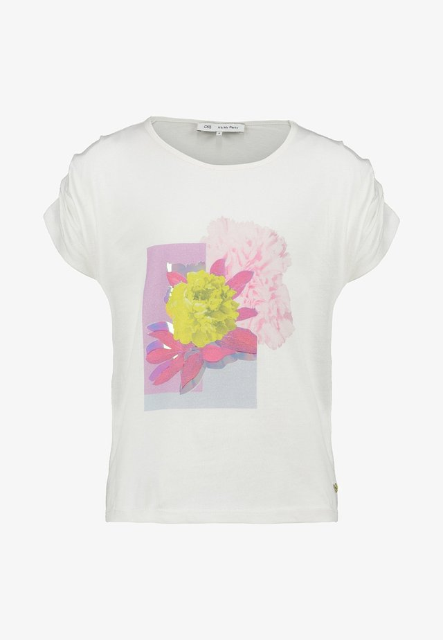 AILISE - Print T-shirt - off-white