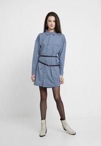 Missguided - DRESS PLAIN - Shirt dress - blue - 2