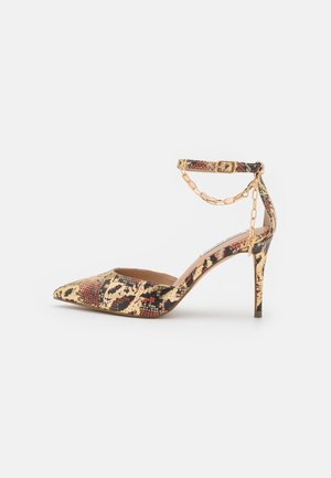 LIONESS - Classic heels - gold/multicolor