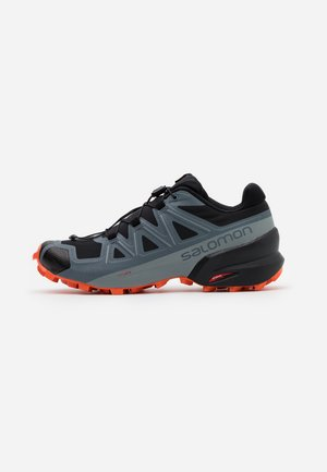 SPEEDCROSS 5 - Scarpe da trail running - black/stormy weather/red orange