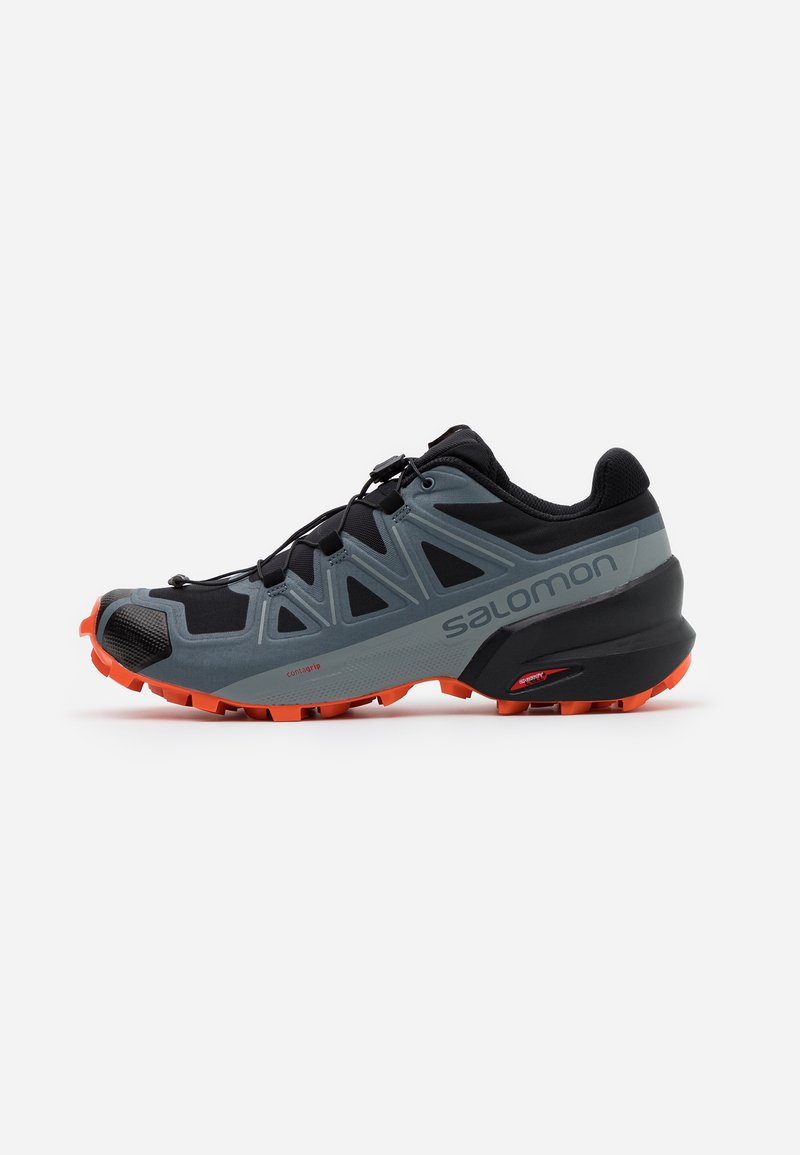 Salomon - SPEEDCROSS 5 - Scarpe da trail running - black/stormy weather/red orange