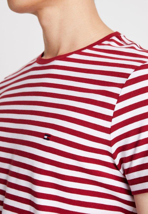 Tommy Hilfiger STRETCH TEE - T-shirt basic - rhubarb/bright white/czerwony Odzież Męska VQPH