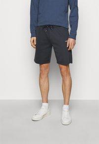 Les Deux - BALLIER TRACK - Teplákové kalhoty - dark navy/white - 0