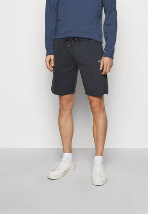 BALLIER TRACK - Tracksuit bottoms - dark navy/white
