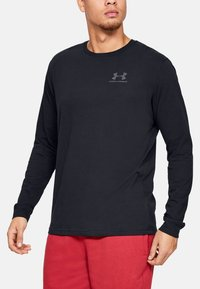 Under Armour - SPORTSTYLE LEFT CHEST - T-shirt de sport - black - 1