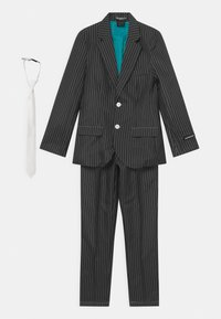 Suitmeister - BOYS GANGSTER PINSTRIPE SET - Kostým - black - 0