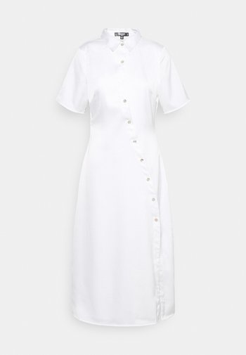 SHAPED PLACKET SHIRT DRESS - Vestido camisero - white