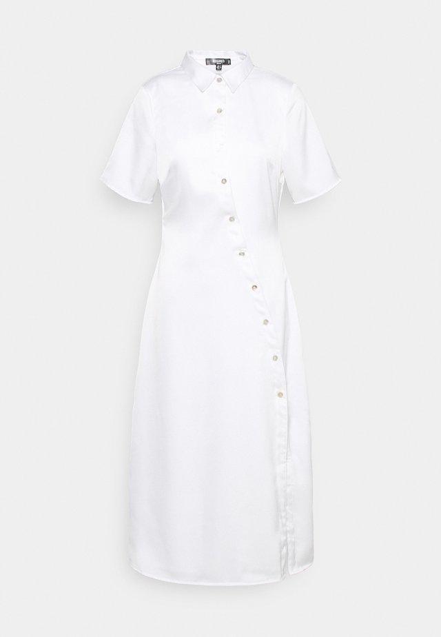 SHAPED PLACKET SHIRT DRESS - Shirt dress - white