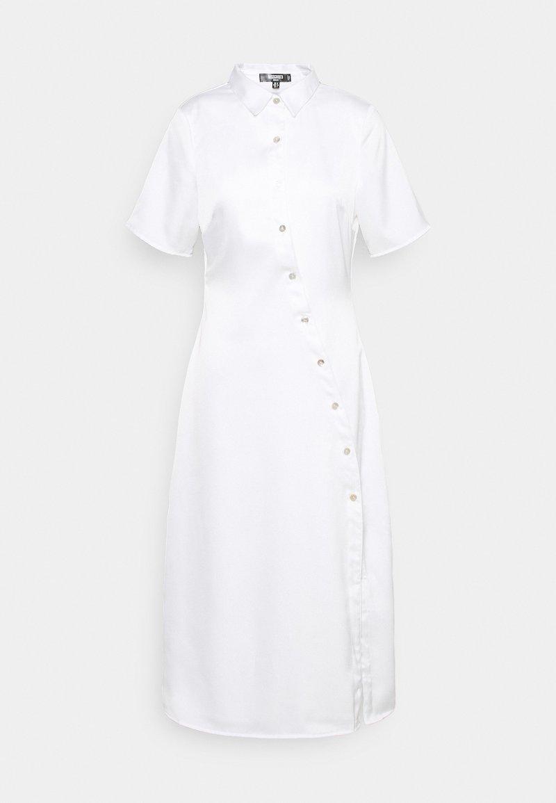 Missguided Petite - SHAPED PLACKET SHIRT DRESS - Shirt dress - white