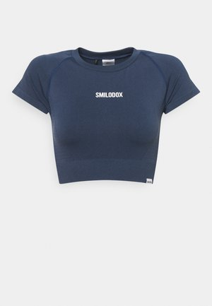 SEAMLESS CROPPED  - Print T-shirt - blau