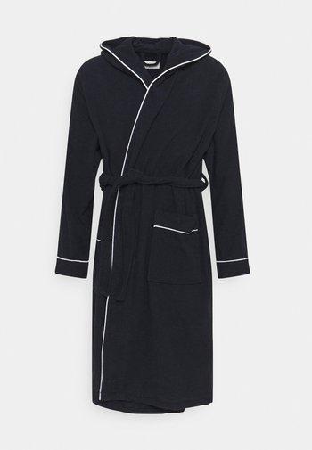 Dressing gown - dark blue/white