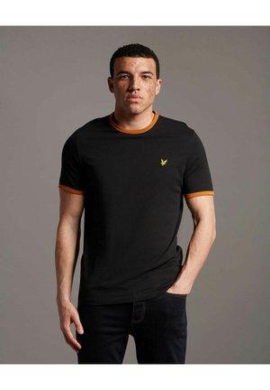 RINGER  - Basic T-shirt - jet black/ cider brown