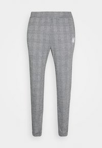 SIKSILK - DOG TOOTH CHECK CUFFED PANT - Tygbyxor - black/white