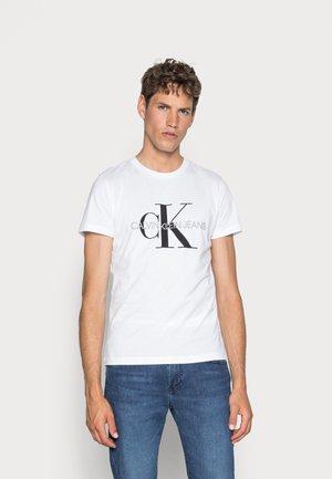 ICONIC MONOGRAM SLIM TEE - T-shirt imprimé - bright white