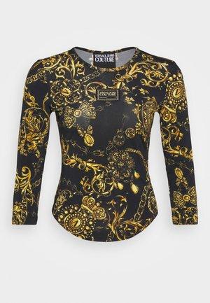 T-shirt à manches longues - black/gold