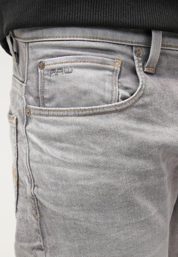G-Star 3301 TAPERED - Jeansy Zwężane - kamden grey stretch denim/szary denim Odzież Męska TSFS