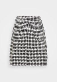 Missguided Tall - HOUNDSTOOTH SKIRT - Mini skirt - black - 1