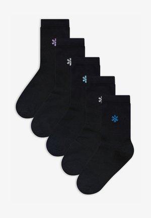 5 PACK - Socks - mottled black