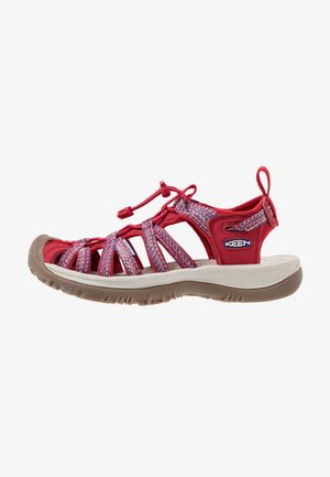 WHISPER - Walking sandals - tango red/blue