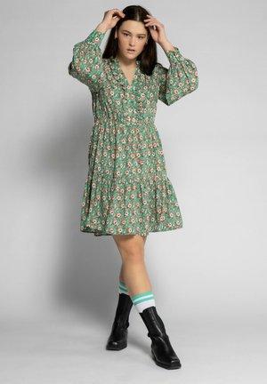 Korte jurk - smaragdgrün