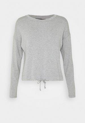 TIE WAIST - Long sleeved top - grey