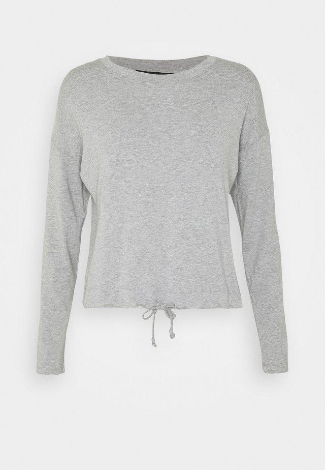 TIE WAIST - Longsleeve - grey