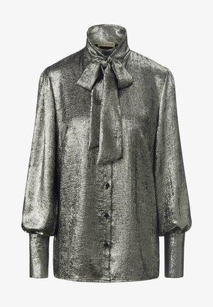 Button-down blouse - silber
