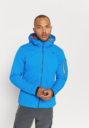 MAN ZIP HOOD JACKET - Softshelljacka - regata