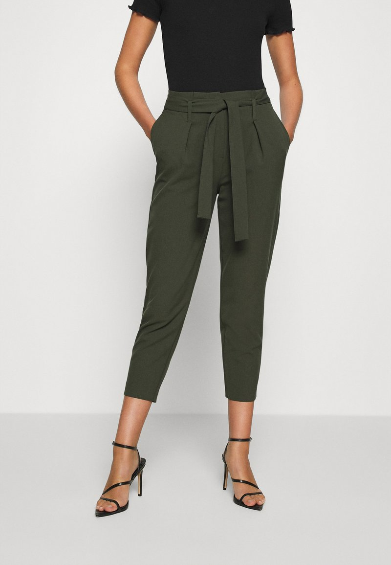 ONLY - ONLNICOLE PAPERBAG  - Trousers - forest night