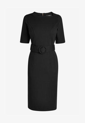 BODYCON PONTE - Shift dress - mottled black