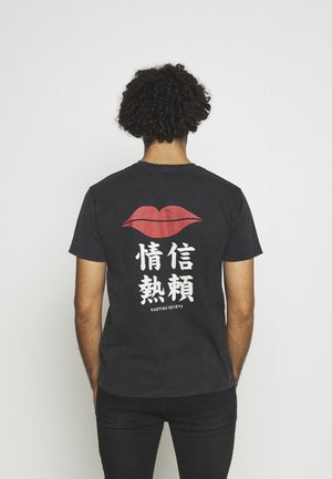 LIPS  - Print T-shirt - dark grey