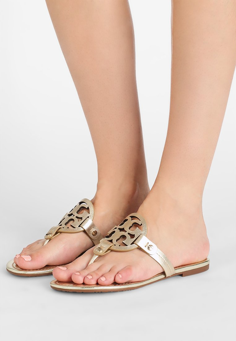Tory Burch - MILLER - T-bar sandals - spark gold